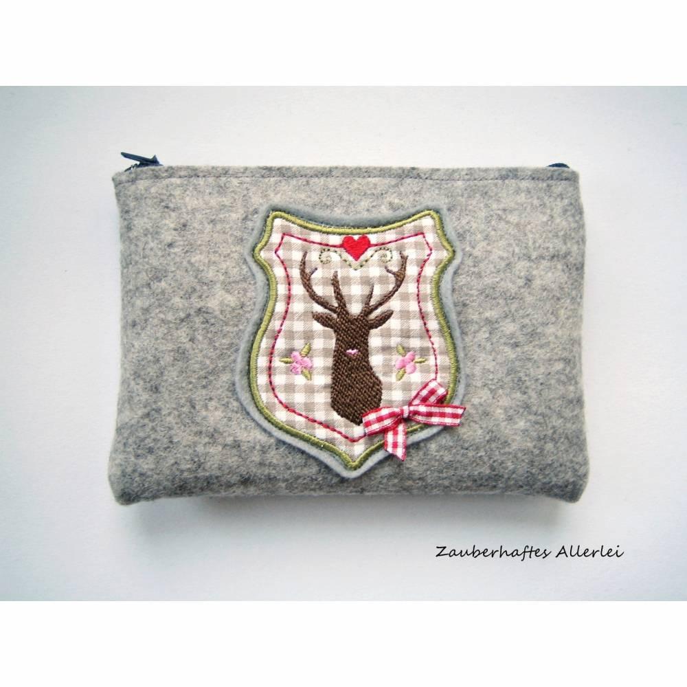 Dirndltasche Gürteltasche Hirsch Filz Bild 1