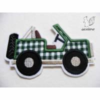 Gelände-Wagen -- Aufnäher in verschiedenen Größen (S-XL) -- Bügelbild -- Applikation zum Aufbügeln Bild 1