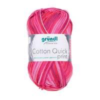 Cotton Quick Print 100 % Baumwolle 50 g Knäuel - Farbe 235 fuchsia rot multicolor