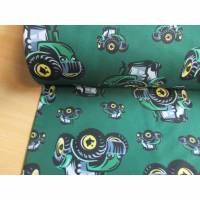 Softshell  mit Fleece -  Abseite,Fiete , Trecker, Traktoren auf Dunkelgrün Oeko-Tex® Standard 100 (1m/15,00€ ) Bild 1