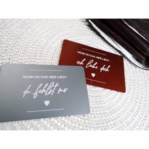 Wortschatz - Ich liebe dich - Geldbeutel-Liebesbrief mit Wunschtext für den Ehemann, Vater, Sohn, Lieblingsmensch