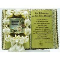 Trauerbuch-Gedenkbuch-Schmuckbuch-Geschenkbuch (mit Holz-Buchständer) Bild 1