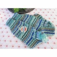 Männersocken Gr. 44/45, blau, marine, oliv, weiß - handgestrickte Herrensocken, Wollsocken, Socken für Männer Bild 1