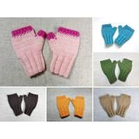 Fingerlose Handschuhe Baby in vielen Farben, gestrickt Bild 1