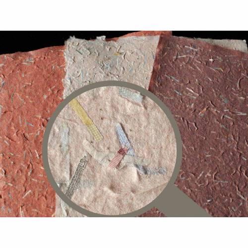 3 Blatt handgeschöpftes Glitzerpapier, ca. 21 cm x 30 cm, Bastelpapier