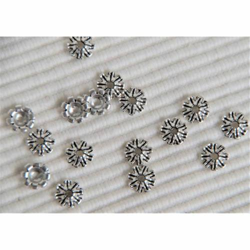 10 Perlenkappen 8 x 3 mm Kappen Endkappen