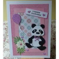 Kindergeburtstag,Glückwunschkarte,Kinder,Pandabär Bild 1