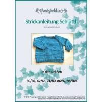 Strickanleitung Schlüttli, Strickjacke Gr. 50-104, Baby-Strickjacke Anleitung, Strickmuster Strickjacke, Wickeljacke Kleinkind Bild 1