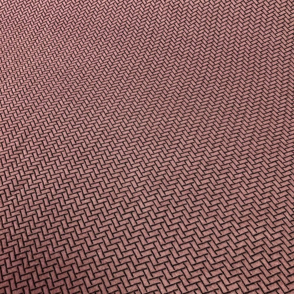 Lillestoff Steppstoff in Knit-Optik Beere/Bordeaux  Bild 1