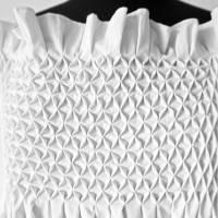 SMOCK TOP in weiß oder schwarz, handgemachter Smok, Träger Oberteil, rückenfrei, bestickt Bild 5
