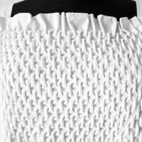 SMOCK TOP in weiß oder schwarz, handgemachter Smok, Träger Oberteil, rückenfrei, bestickt Bild 6