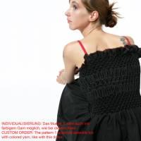 SMOCK TOP in weiß oder schwarz, handgemachter Smok, Träger Oberteil, rückenfrei, bestickt Bild 7