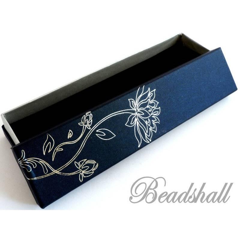 4 Schachteln 22 x 4,5 x 3,5 cm Lotosblume Blau Schmuckschachtel Geschenkschachtel Bild 1