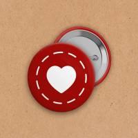 Button - Herz rot - 25 mm Bild 1