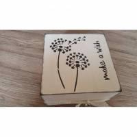 Holzkästchen -Pusteblume- Bild 1