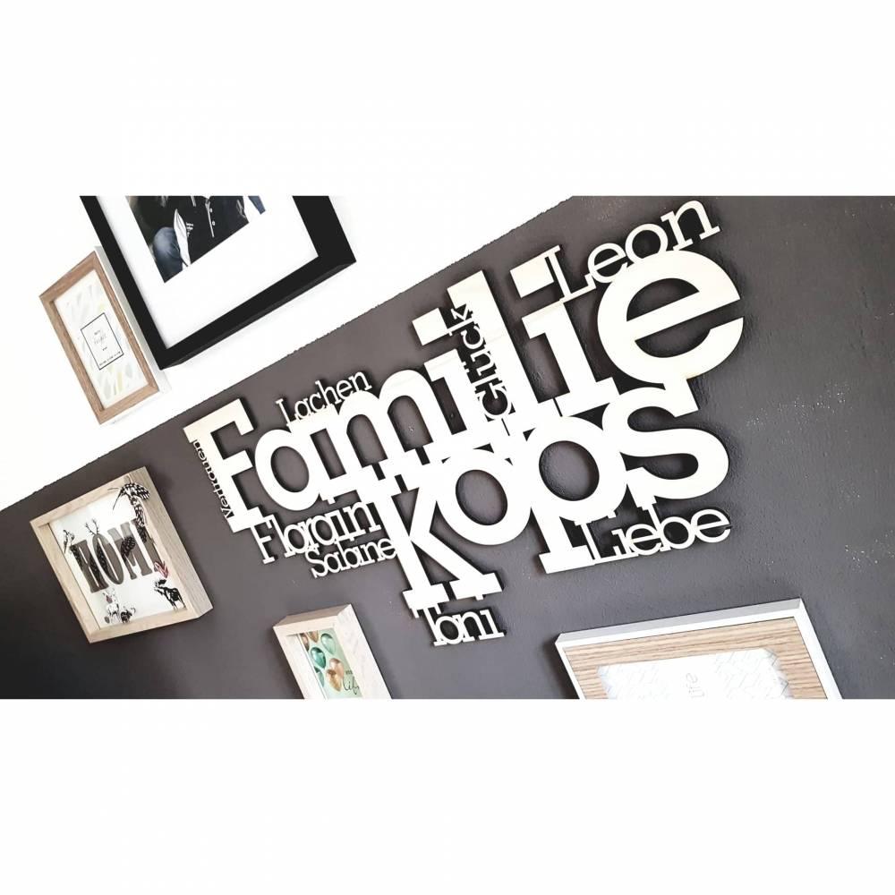"️Wandbild ""Familie""️ aus Holz, 420x300mm Bild 1"
