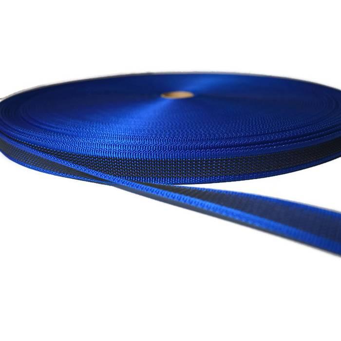Gummiertes Gurtband - ca. 20 mm breit - beidseitig gummiert - blau Bild 1
