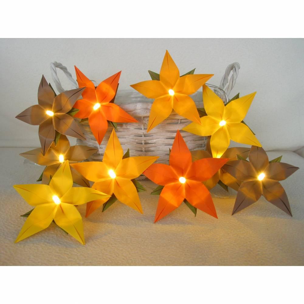 Lichterkette orange-gelb, Herbst Deko für Wohnzimmer und Kinderzimmer Bild 1