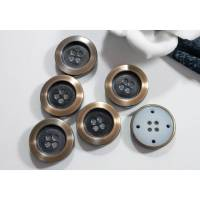 6 Vintage Knöpfe 23mm bronzefarben, Metallknöpfe, alte Knöpfe, Trödel Dings da Bild 1