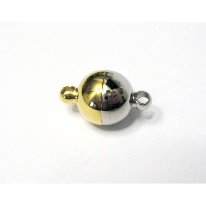 12 mm Stark Magnetverschluss Edelstahl Gold/Silber Bild 1