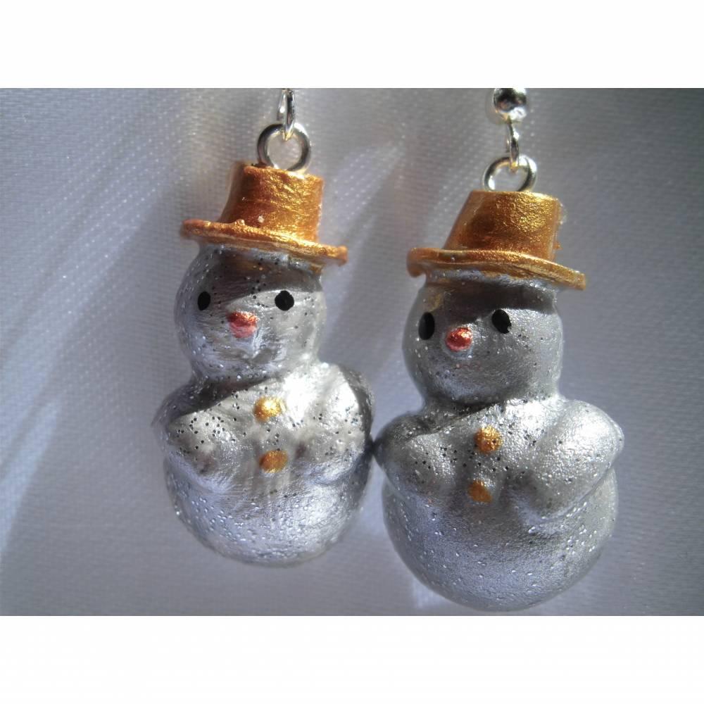 Ohrringe Schneemann, Weihnachten, Winter, Bild 1