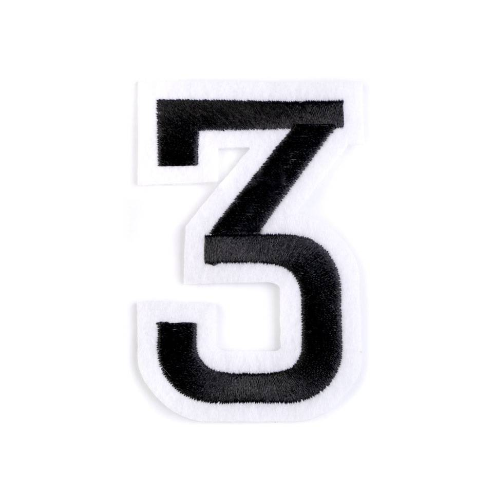 "Applikation Zahl ""3"" Bild 1"