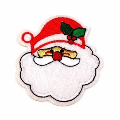 Applikation Bügelbild Weihnachtsmann Weihnachen 7x6 cm