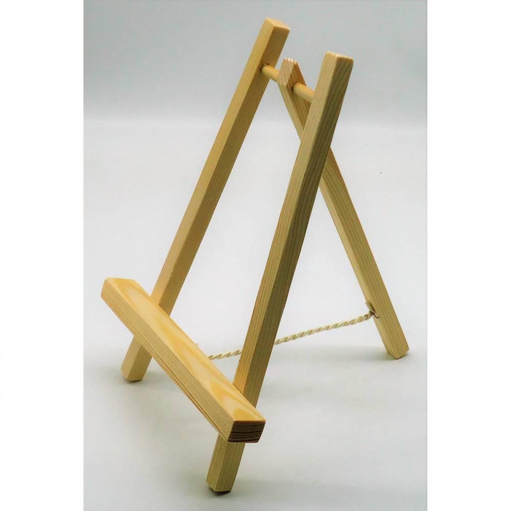 Handgefertigter Buchständer / Staffelei aus Holz Bild 1