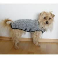 Hunde-Pullover, handgestrickt, Hunde-Mantel mit Bauchlatz, Hundepullover, Hundemantel Bild 1