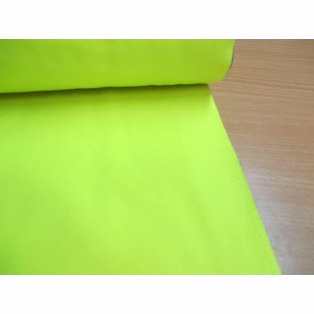 Rest: 1m x 1,45m Neon Softshell mit Fleece -  Abseite, uni  neongelb ( 1m/10,00€ ) Bild 1