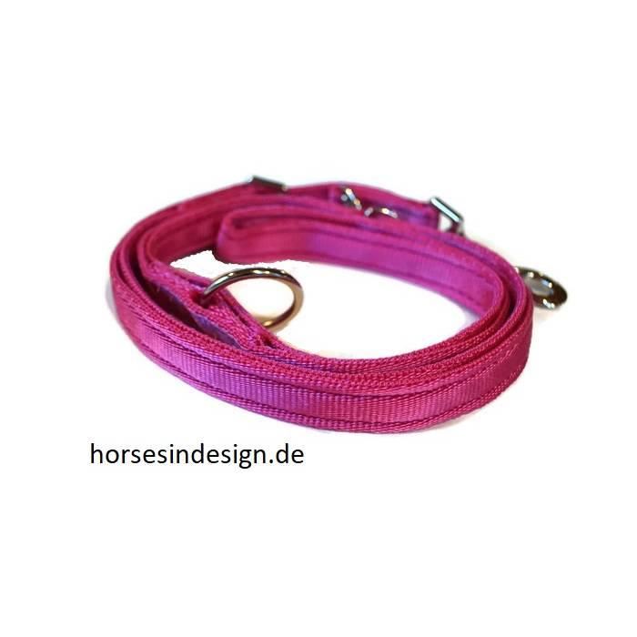 Gepolsterte Hundeleine - 2 Meter - pink Bild 1