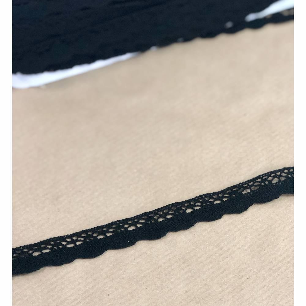 Häkelspitze in Schwarz 2cm breit Bild 1