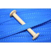 1 m elastisch Schrägband uni 13 mm, blau Bild 1