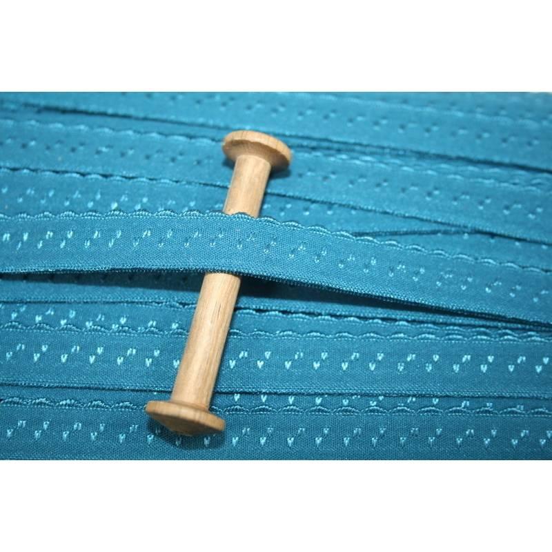 1 m elastisch Schrägband uni 13 mm, petrol Bild 1