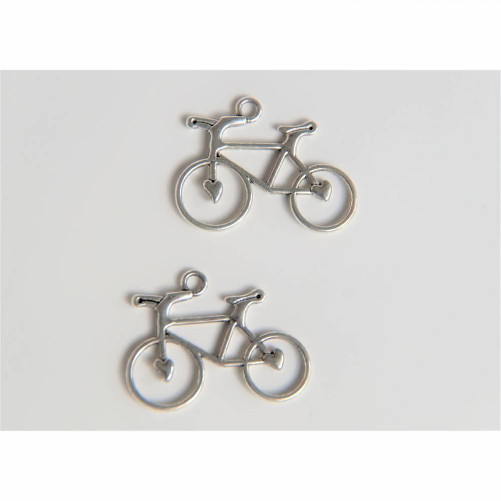 2 Fahrrad Anhänger Charms für Ketten Armbänder usw. Bild 1