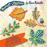 8 x Stickdatei, Stickmuster - Embroidery *Blätter* aus der Herbst-Zauber Serie by Bine Brändle Bild 1