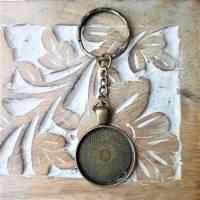 Anhänger Cabochon 25mm silberfarbe o. bronze mit eigenen Bild personalisiert Bild 2
