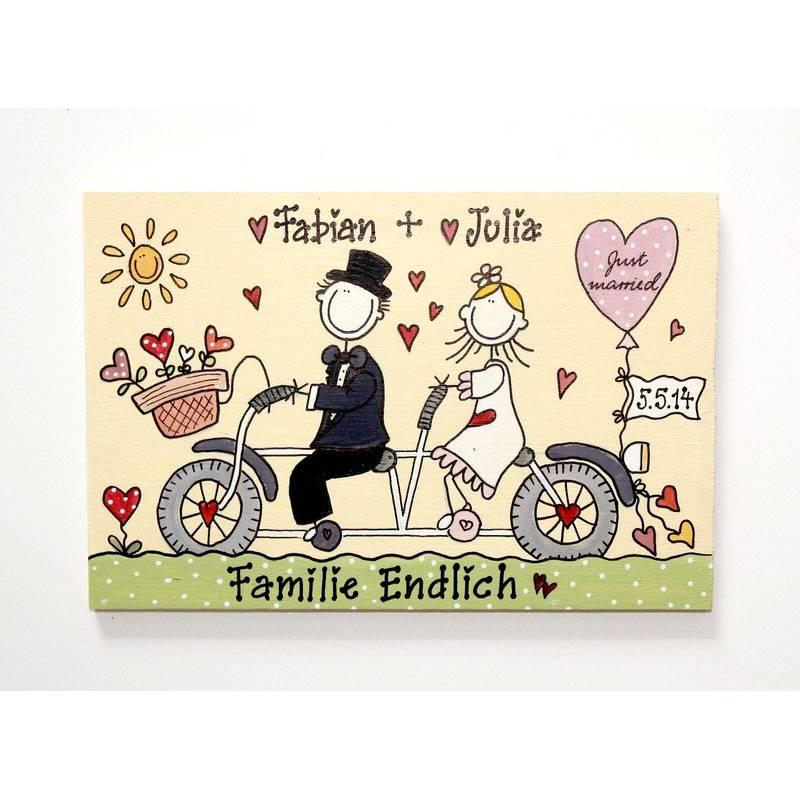 Hochzeitsgeschenk Türschild personalisiert, Geschenk für das Brautpaar Bild 1