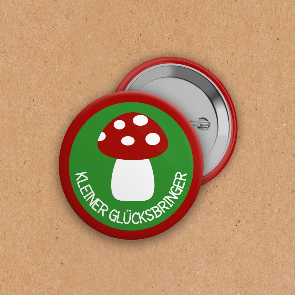 Button - Kleiner Glücksbringer - 25 mm Bild 1