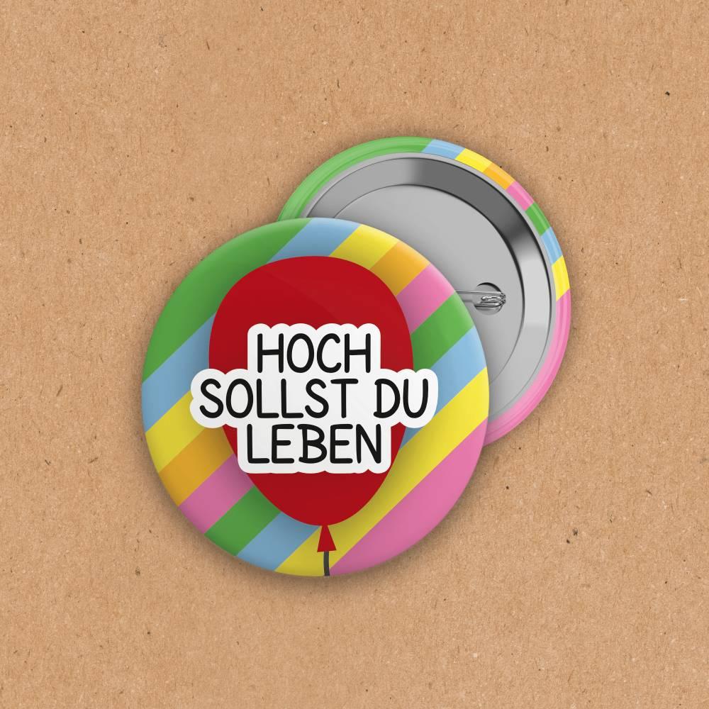 Button - Hoch sollst du leben - 38 mm Bild 1