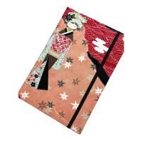 """Notizbuch Tagebuch """"Hello Geisha"""" A5 Hardcover stoffbezogen Geisha Kimono Japan Asien Geschenk Bild 5"""