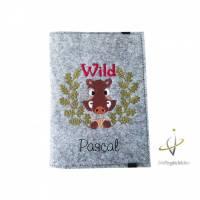 Jagscheinhülle Hülle für den Jagdschein WBK Wildsau Wildschwein Geschenk Jäger Bild 1