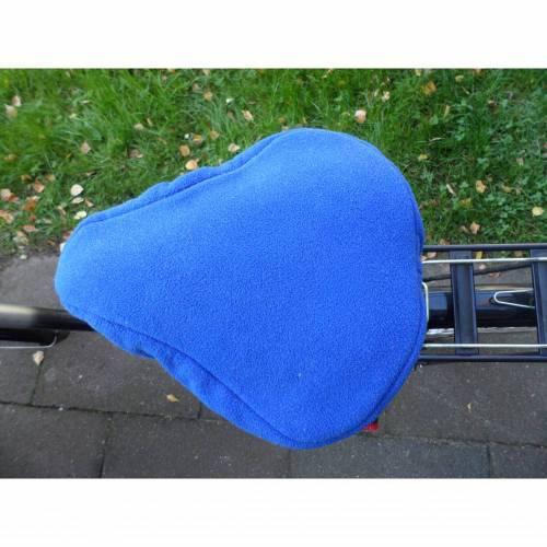 Fahrradsattelwärmer, Fahrradsattelbezug, dunkelblau, Fleecestoff, Handmade