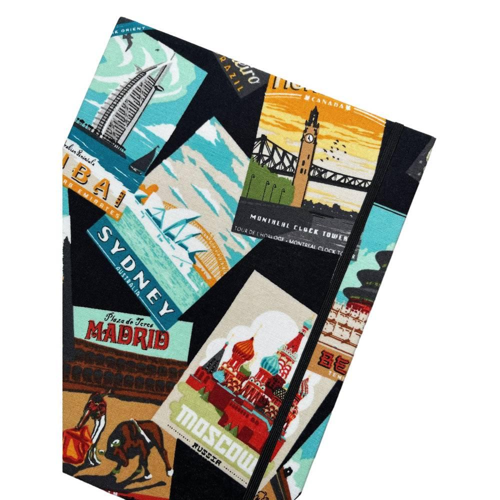 """Notizbuch Tagebuch Reisetagebuch """"Vintage Postcards"""" Retro Retrostil Postkarten Weltreise Kreuzfahrt Geschenk Bild 1"""