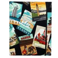 """Notizbuch Tagebuch Reisetagebuch """"Vintage Postcards"""" Retro Retrostil Postkarten Weltreise Kreuzfahrt Geschenk Bild 2"""