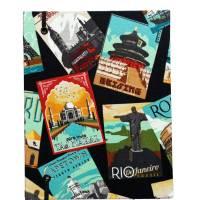 """Notizbuch Tagebuch Reisetagebuch """"Vintage Postcards"""" Retro Retrostil Postkarten Weltreise Kreuzfahrt Geschenk Bild 3"""
