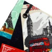 """Notizbuch Tagebuch Reisetagebuch """"Vintage Postcards"""" Retro Retrostil Postkarten Weltreise Kreuzfahrt Geschenk Bild 4"""