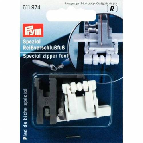 Reißverschluss-Fuß für Nähmaschinen für nahtverdeckte Reißverschlüsse