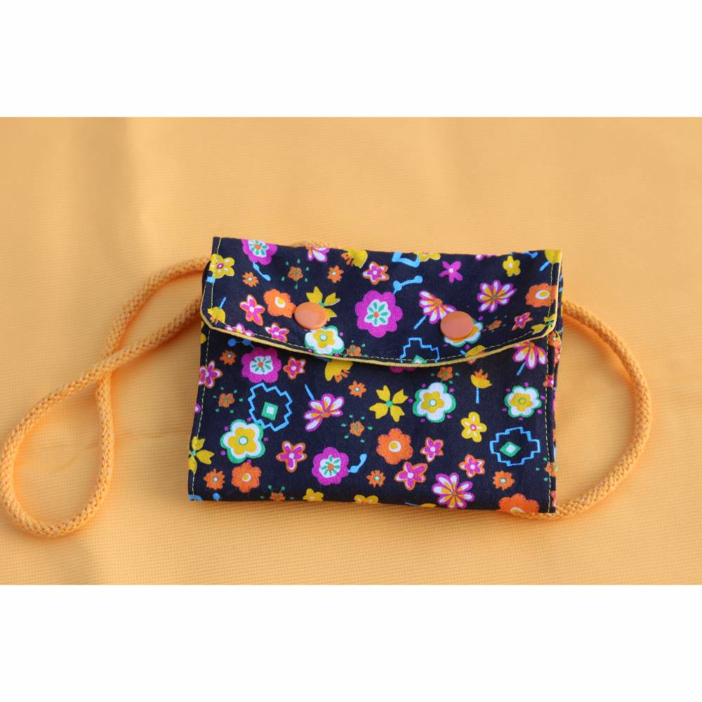 Brustbeutel Blumen  - erster Geldbeutel für Mädchen Bild 1