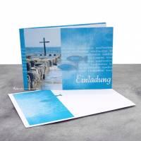 """Einladungskarte Konfirmation, Kommunion oder Firmung """"Kreuz im Meer"""" Bild 2"""